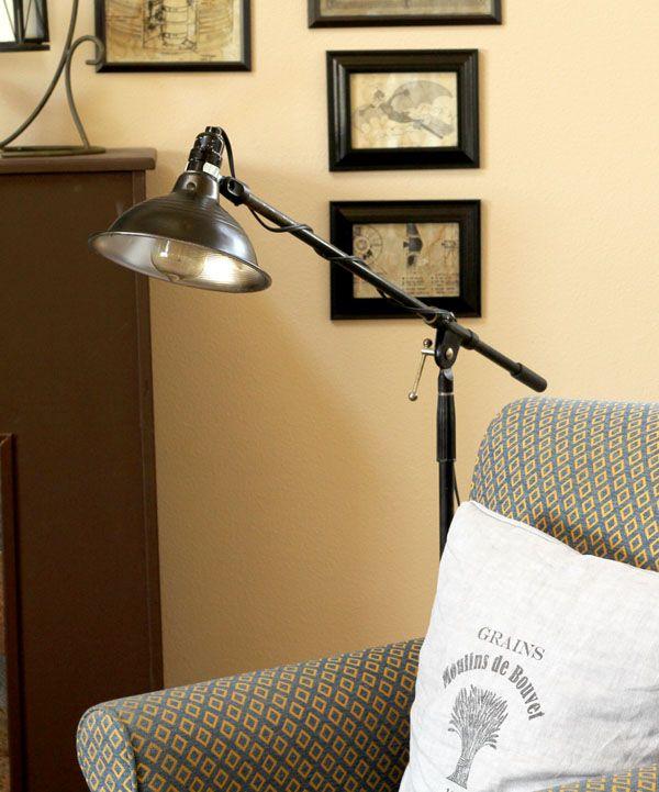 Hardware Store Work Light + Microphone Stand U003d Restoration Hardware  Inspired Bronze Pharmacy Lamp (Knock Off Decor)