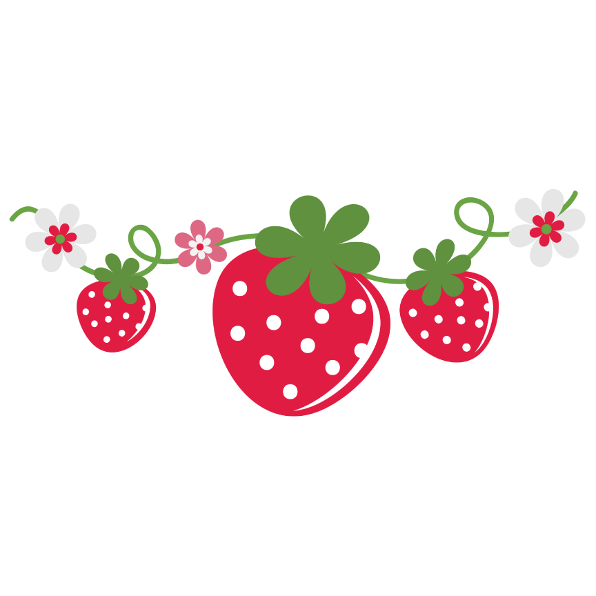 Strawberry Vine with Flowers (40% off for Members) - PPbN Designs