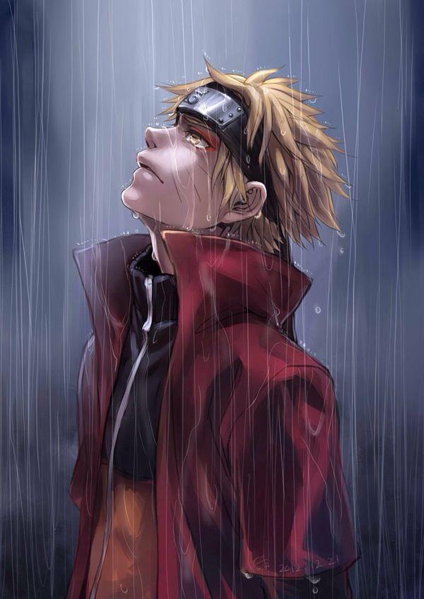 Naruto Uzumaki Standing In The Rain Naruto Shippuden Anime Naruto Sage Naruto Uzumaki