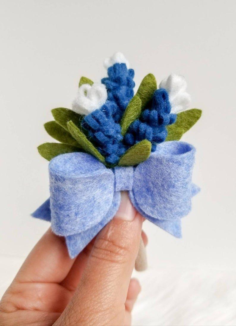 Bluebonnet Headband, Felt Flower Crown, Felt Flower Headband, Flower Headband, Flower Crown