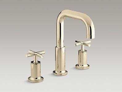 Kohler K T14428 3 Af Purist Deck Mount Bath Faucet Trim For