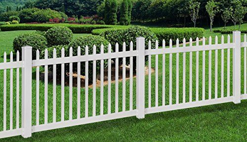 Wambam No Dig Nantucket Vinyl Picket Fence With Post And Steel Pipe