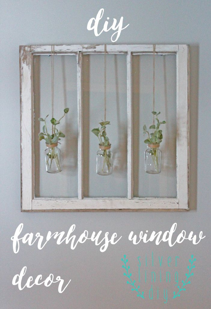 Diy Farmhouse Window Decor Glass Jars Hanging With Jute String And