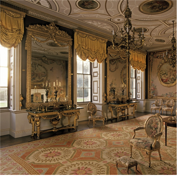 Newby Hall The drawing room Yorkshire England Designed by Sir ...