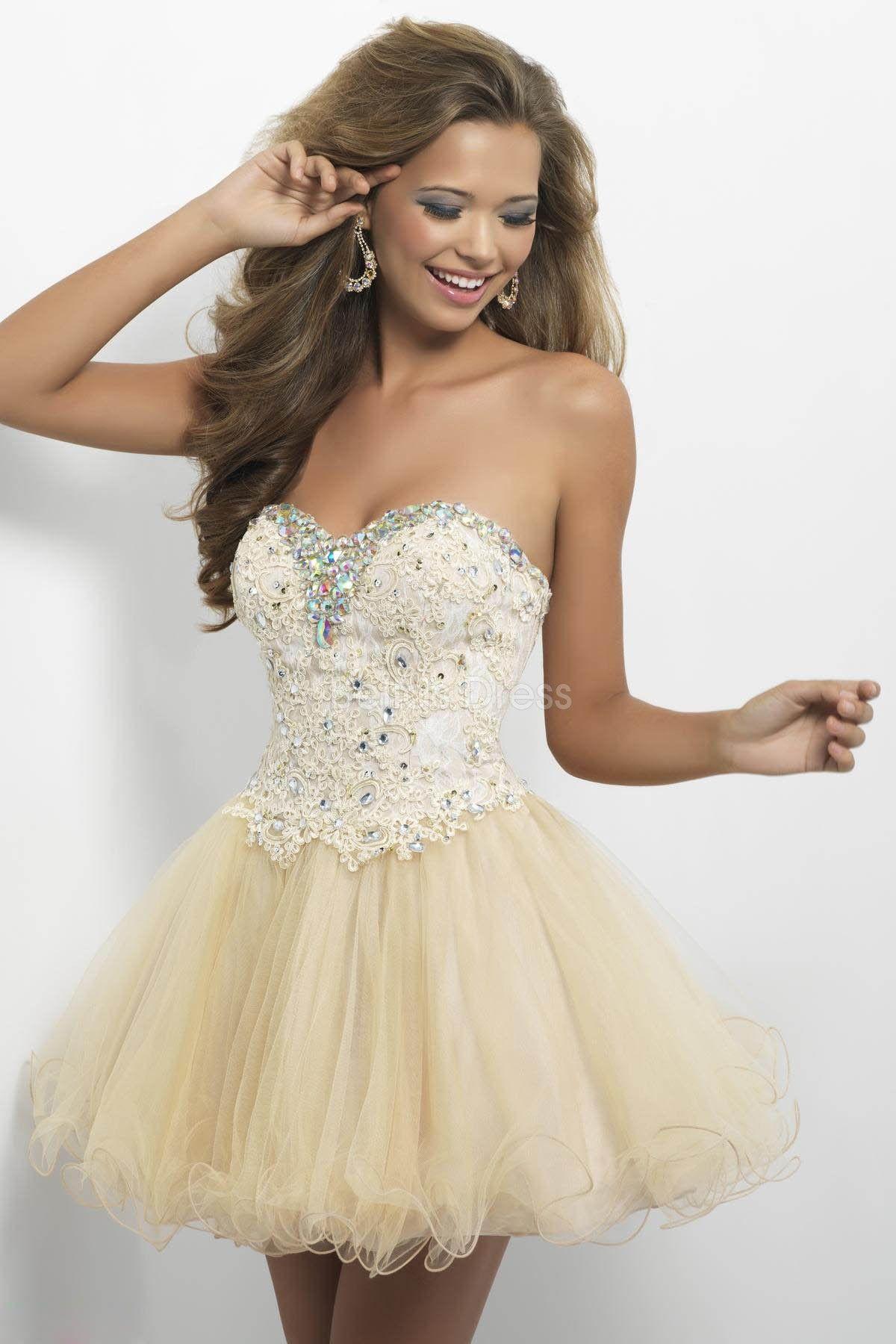 Short Lace Prom Dress - Ocodea.com