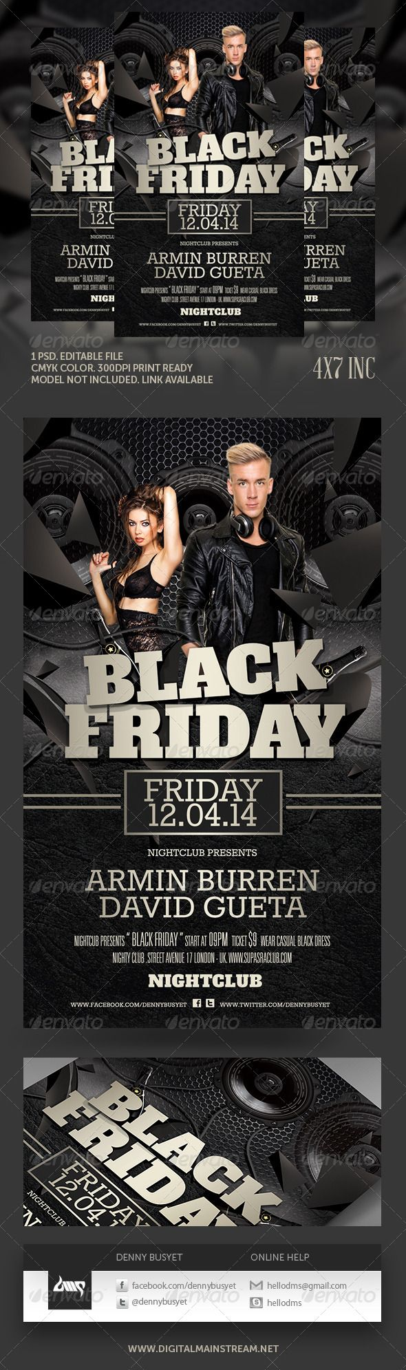Black Friday Club Flyer Template – Black Flyer Template