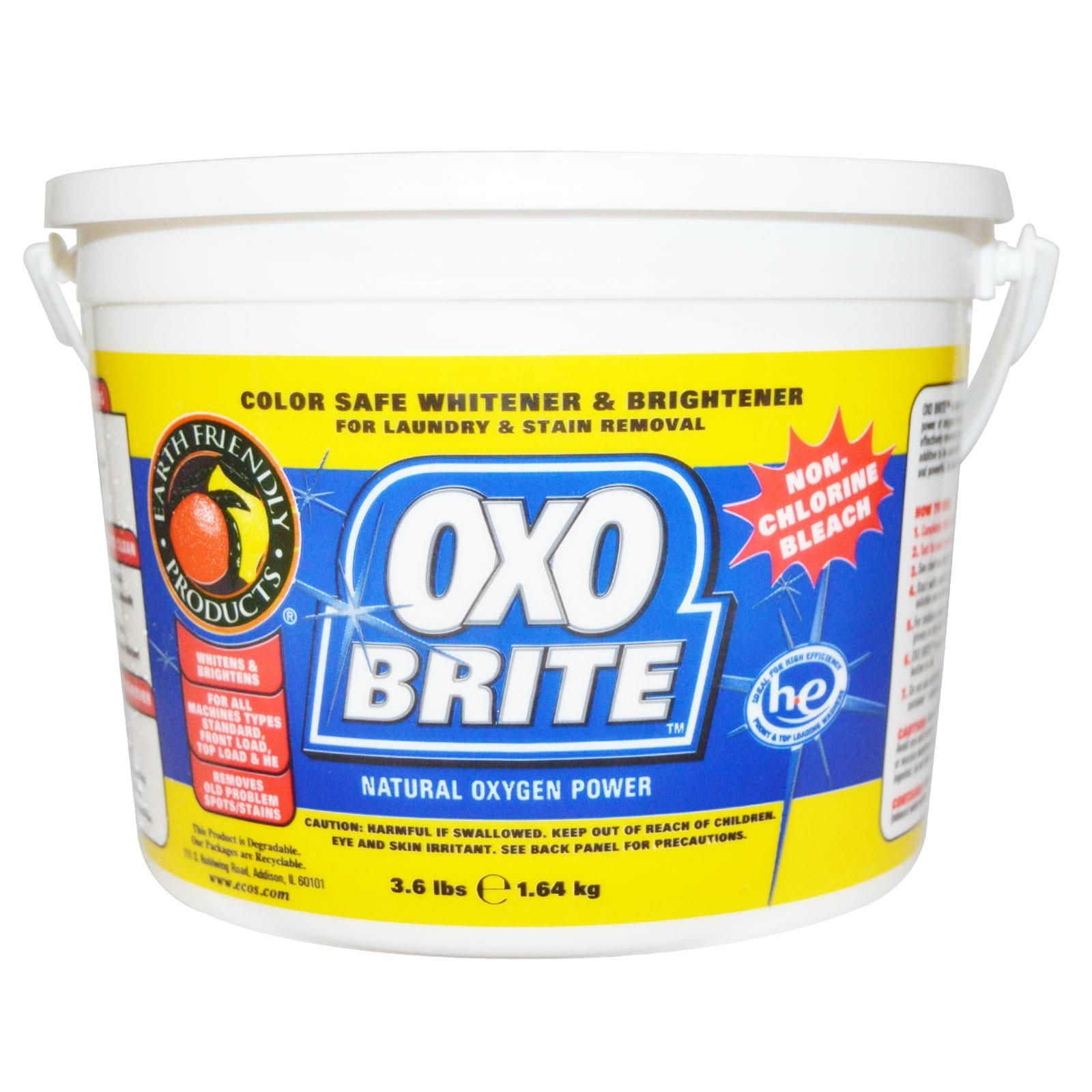 Earth Friendly Products Oxo Brite Natural Oxygen Power 3 6 Lbs 1 64 Kg Natural Cleaning Products Diy Cleaning Products Laundry Stain Remover
