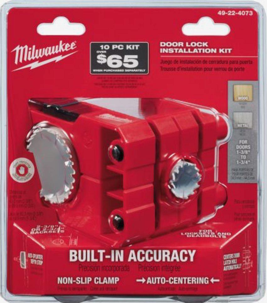 Milwaukee Door Lock Installation Bi Metal Hole Saw Set 49 22 4073 Door Lock Installation Kit Installation Door Locks