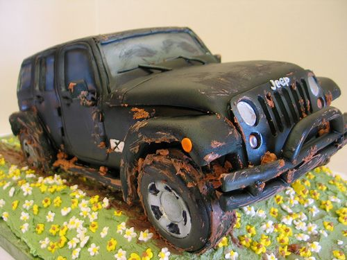 Jeep Wrangler Cake Front Jeeps Cake and Jeep cake