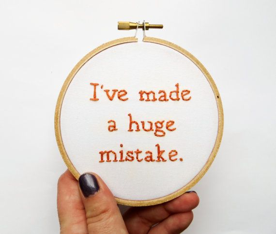 Arrested Development Hand Embroidery Hoop Art : by StitchCulture
