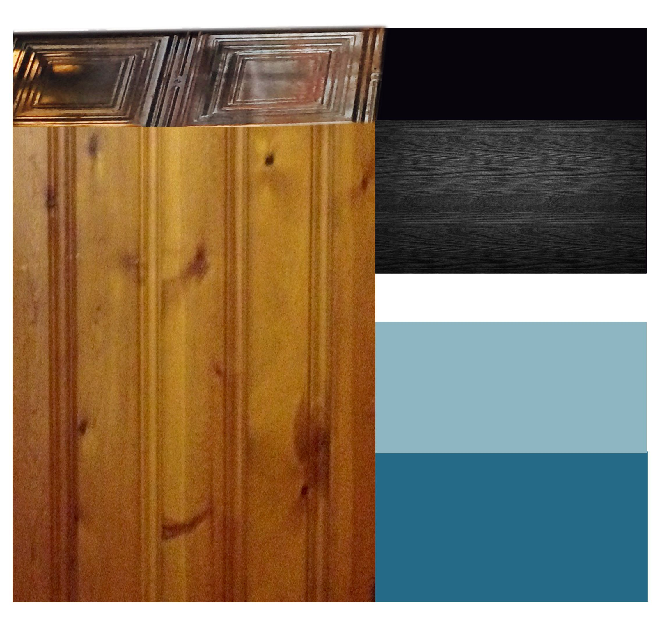 Knotty Pine Paneling Color Combinations