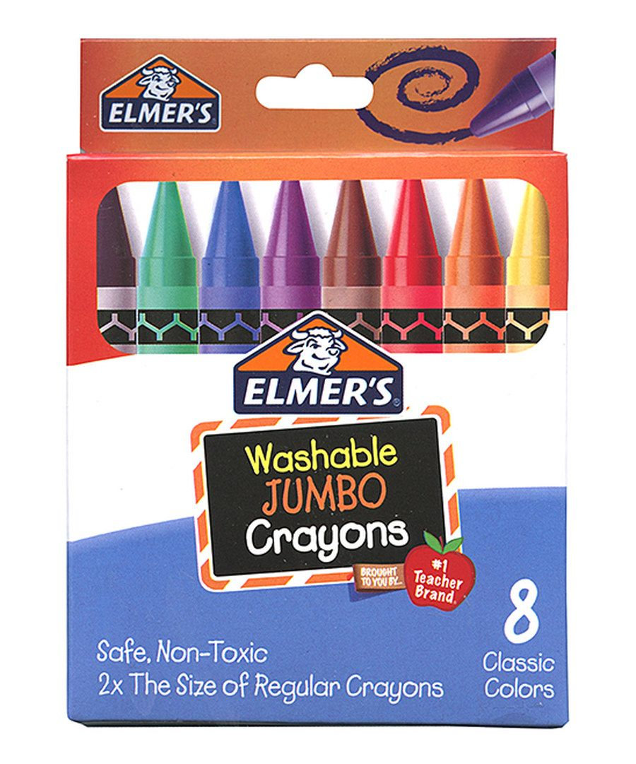 Look at this Elmer's Eight-Piece Jumbo Crayon Set on #zulily today!
