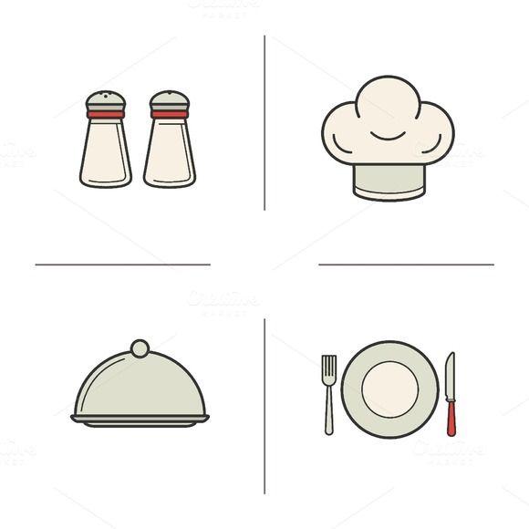Restaurant kitchen icons. Vector @creativework247