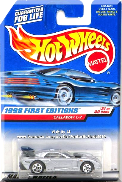 Metallic Silver W Black Interior Black C7r And Callaway On Sides Oso Fast Racing On Hood Black Hot Wheels Mattel Hot Wheels Hot Wheels Treasure Hunt