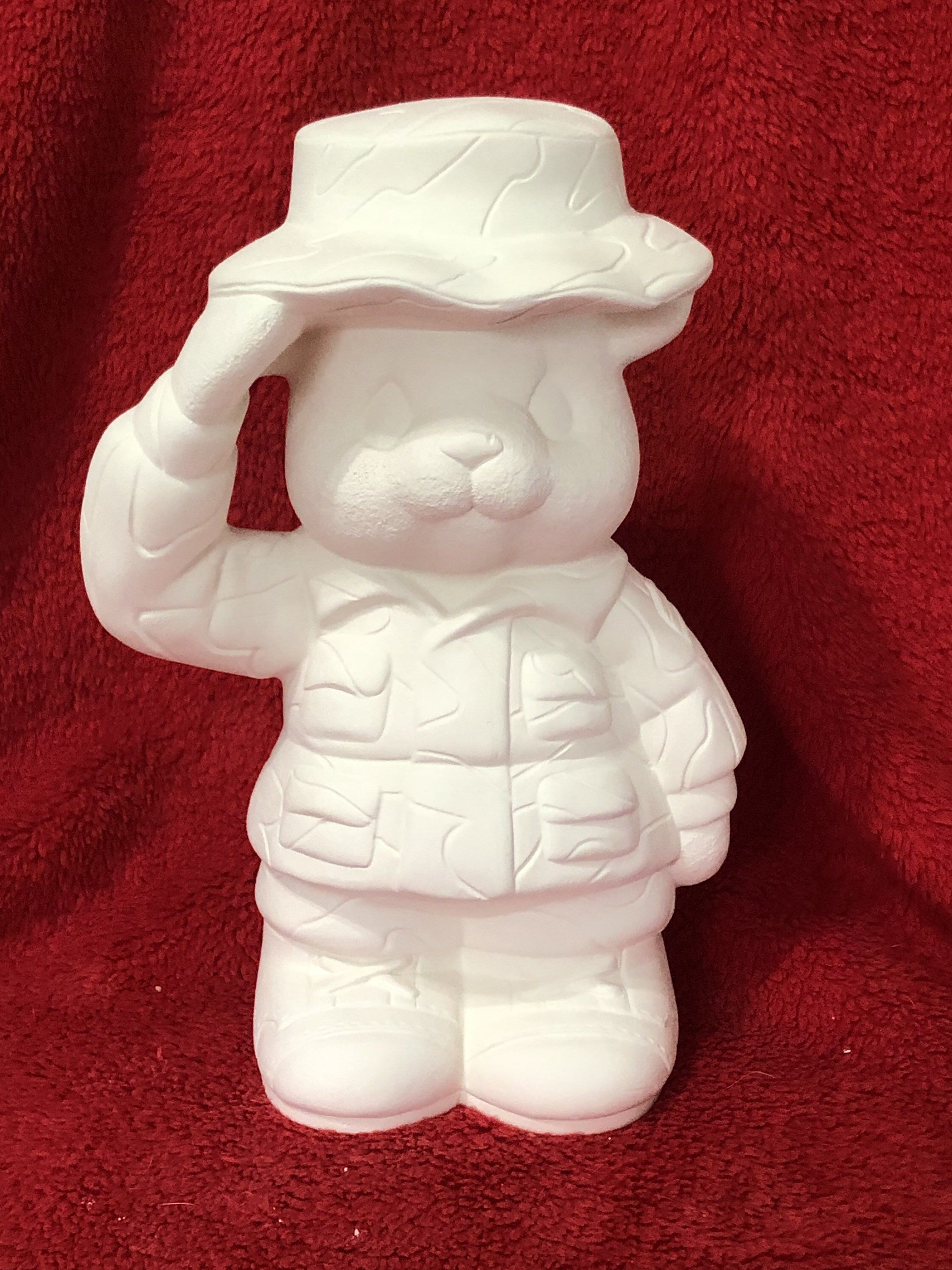 Bear 4 x 8 Ceramic Bisque Ready to Paint