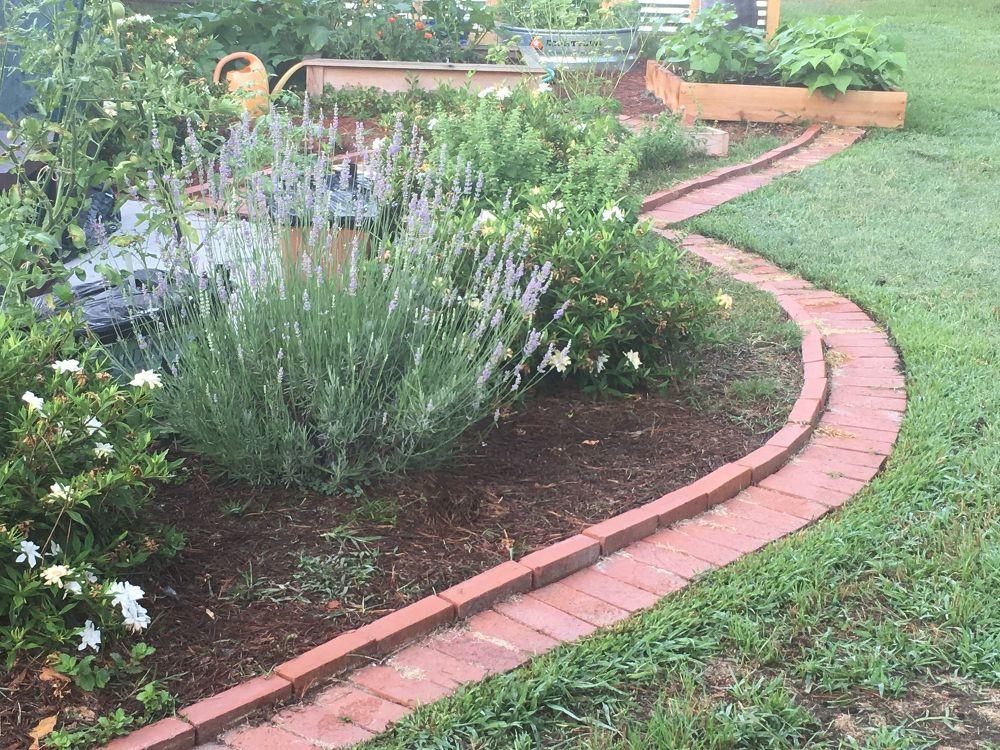 Diy Brick Garden Edging Brick Garden Brick Garden Edging