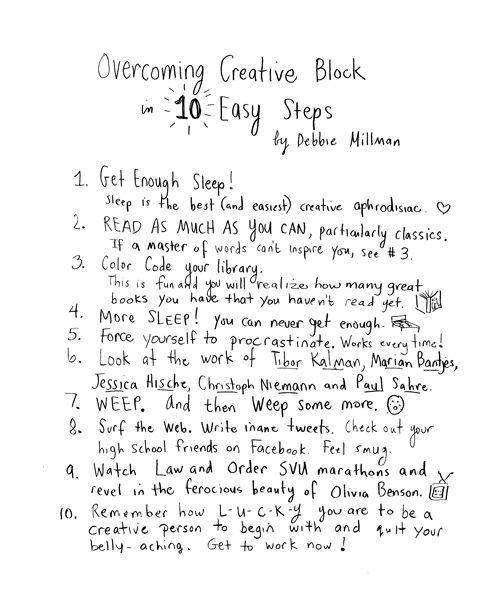 Overcoming Creative Block in 10 Easy Steps by Debbie Millman