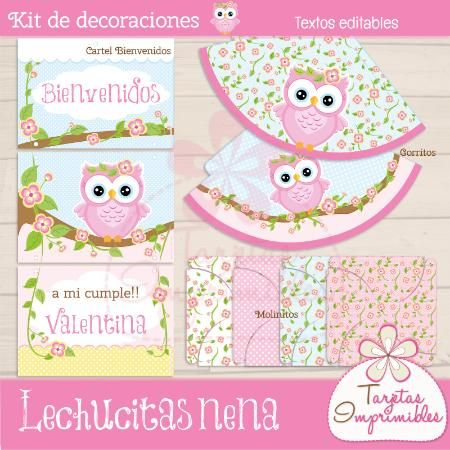 Kit de decoraciones para cumplea os de ni as para imprimir - Ideas para cumpleanos de nina ...