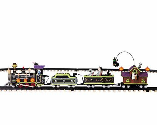 Lemax Spooky Town Express train - We ordered a bunch of extra track so we can snake it through our village this year.
