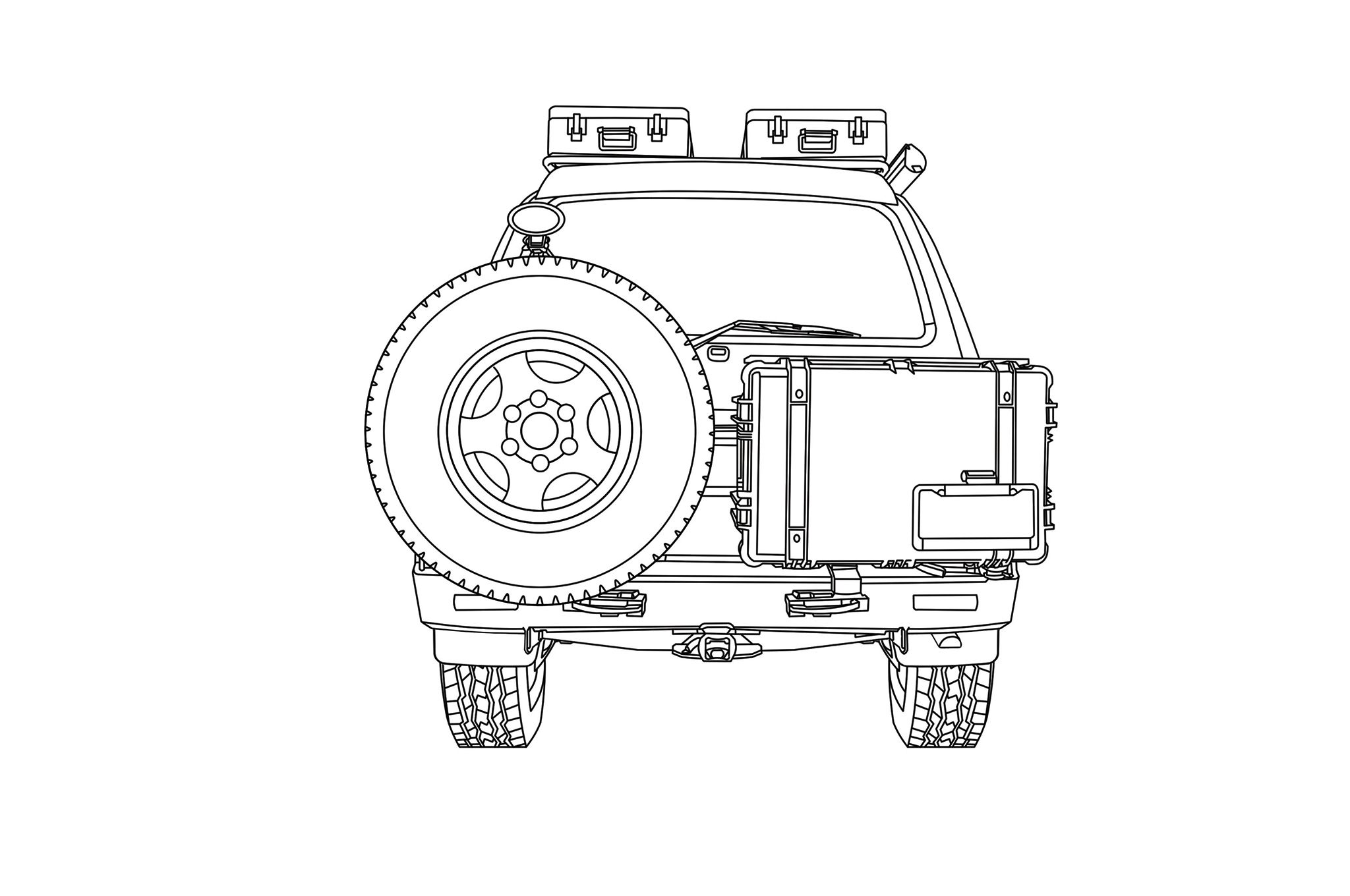 Toyota Land Cruiser Diagram Rear