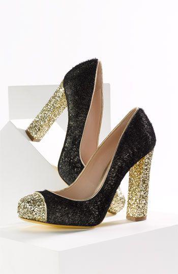 Miu Miu Блеск Насосов, Золотой Блеск, Обувь Для Девочек, Miu Miu, Высокие 9e032d3db2a