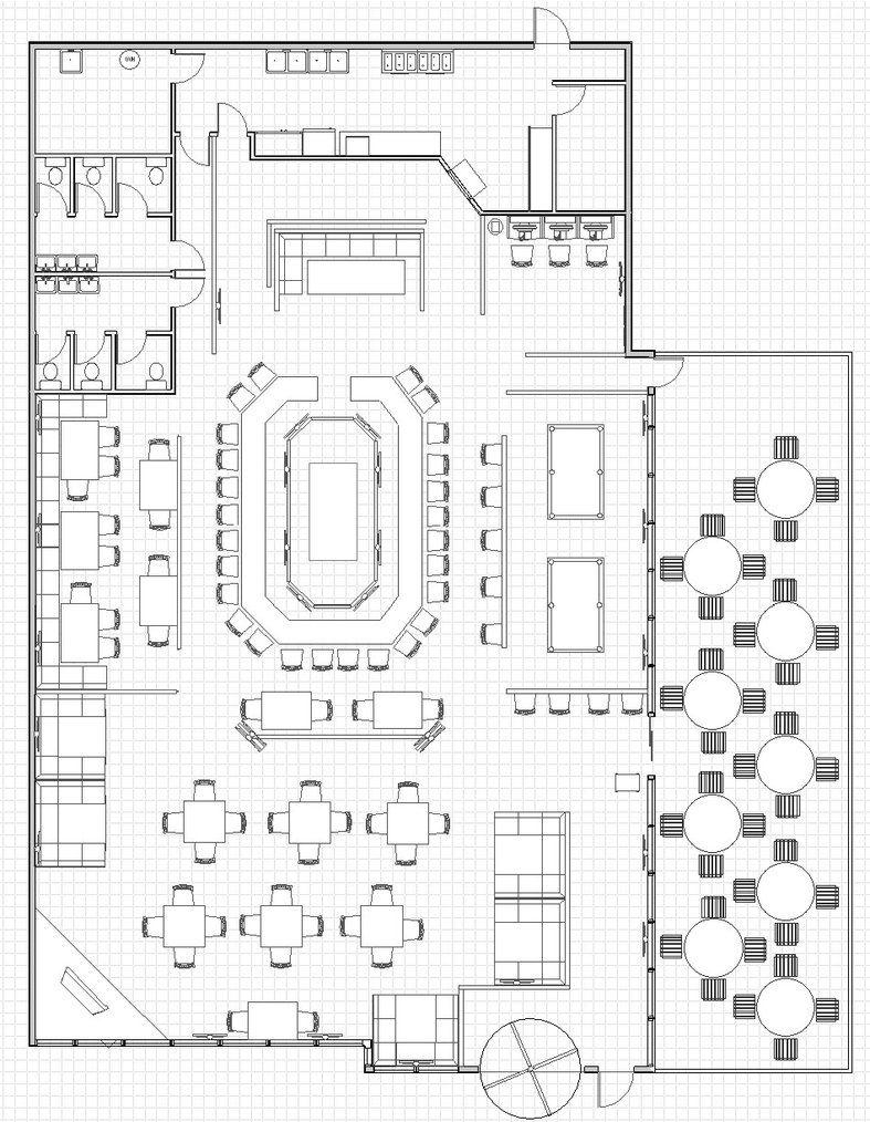 Restaurant With Open Kitchen Google Search Restaurant Floor Plan