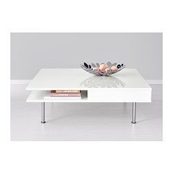 Tofteryd Coffee Table High Gloss White With Drawer 37 3 8x37 8 Ikea