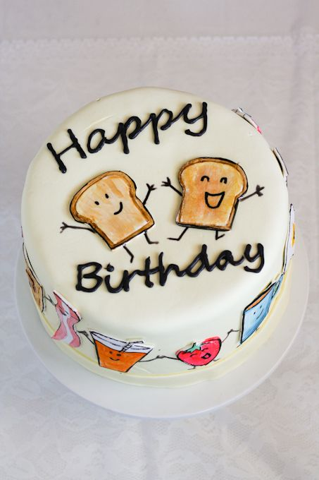 A breakfast birthday cake Birthday Fiesta Pinterest Breakfast