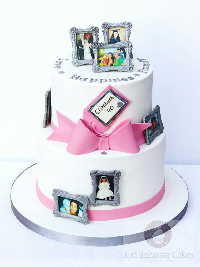Picture Frame 40th Birthday Cake by Just Because CaKes | Cakes ...