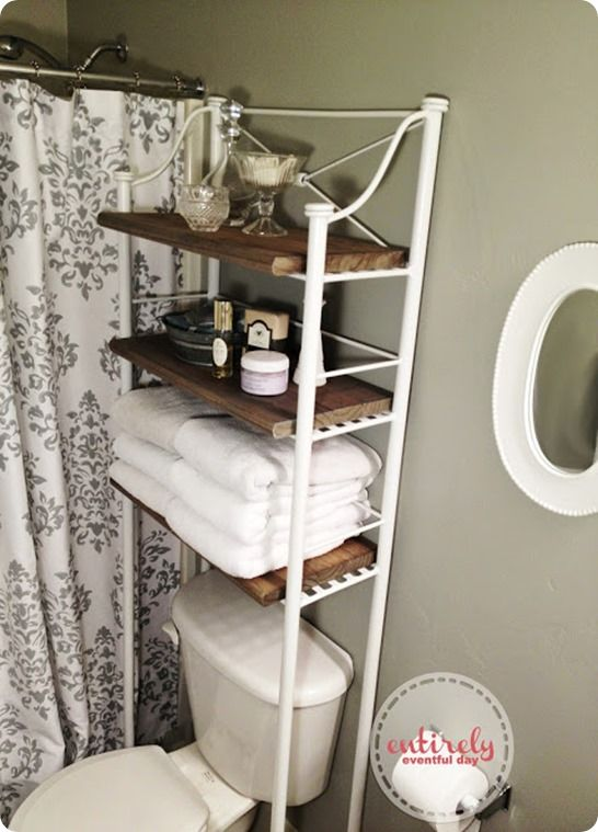Metal And Wood Bathroom Shelf Diy Bathroom Design Shelves Over
