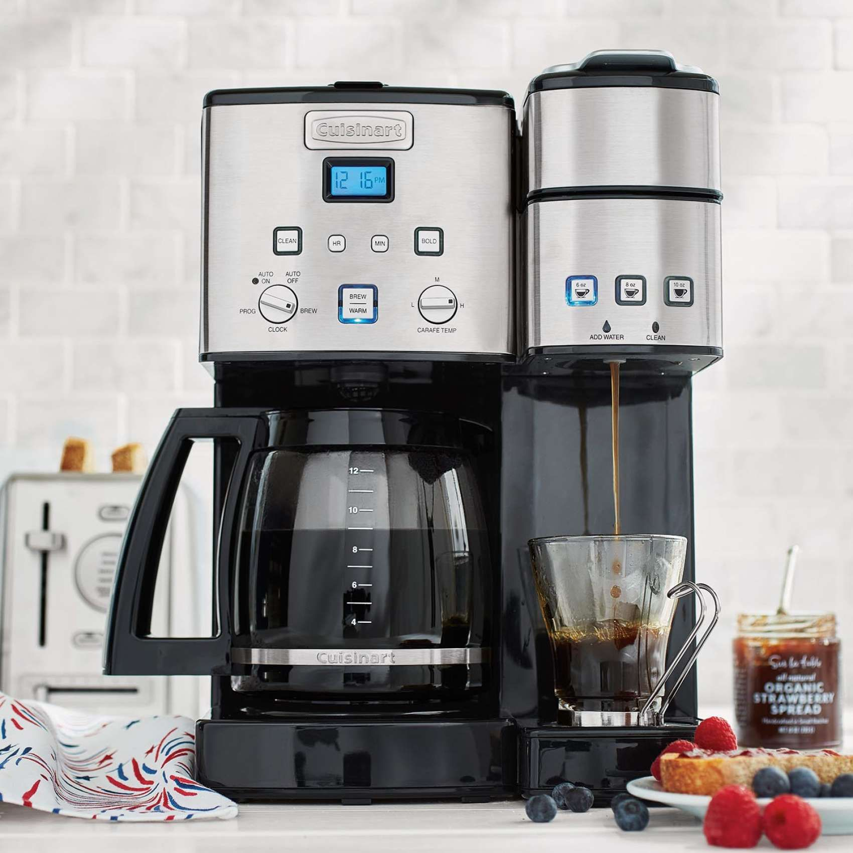 Cuisinart Coffee Center 12 Cup Coffee Maker And Single Serve