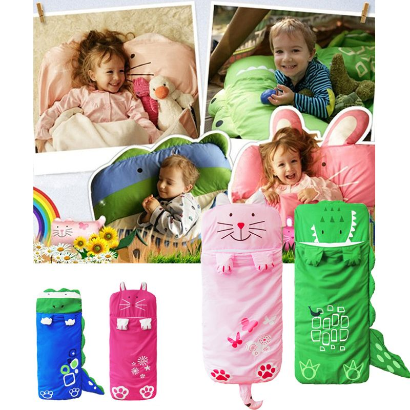 >> Click to Buy << Animal Baby Bedding Baby Sleeping Bags Kid Sleeping Sack Infant Toddler Cartoon Prevention Kicking with Pillow 140*60cm 0-4 Year #Affiliate