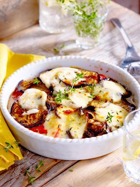 Tomaten-Auberginen-Auflauf mit Mozzarella #vegetarischerezepte