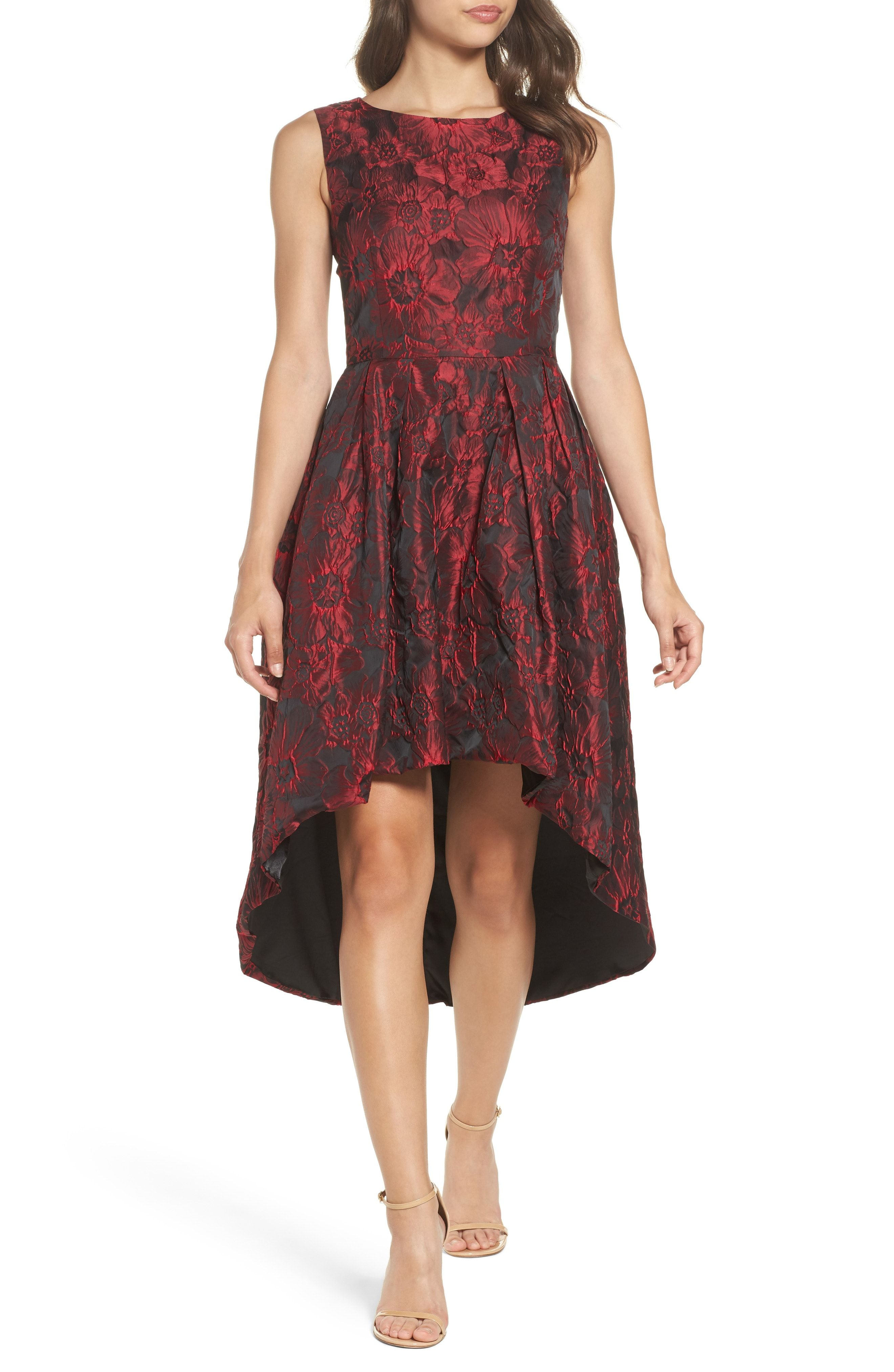 Nordstrom dresses wedding guest  Beautiful Forest Lily Jacquard HighLow Dress online