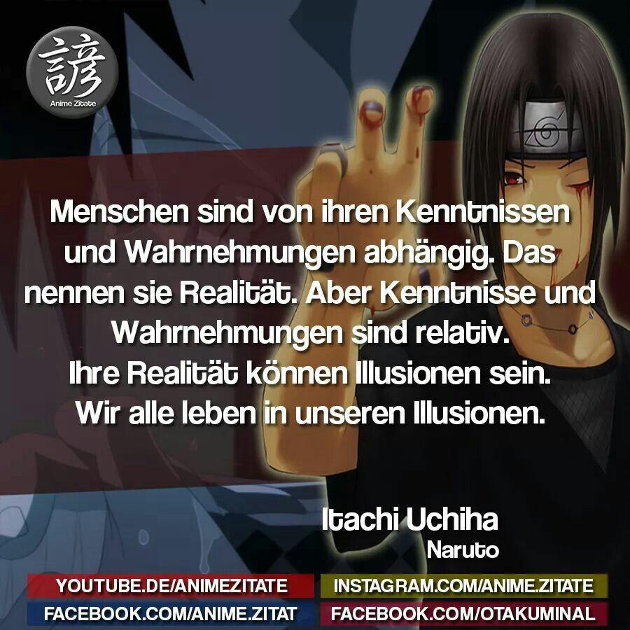 Itachi Uchiha Naruto Zitate Anime Zitate Manga Zitate