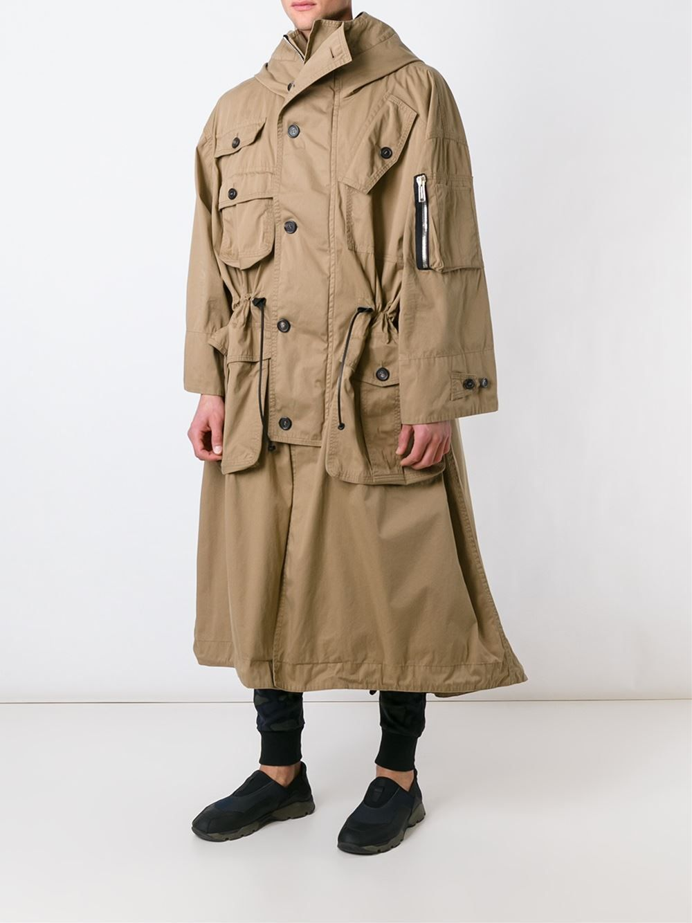 DSQUARED2  trench à design oversize 1 675,00 €