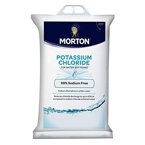 Morton Potassium Chloride Pellets 40 Lb Bag Water Softener Easy Install Potassium