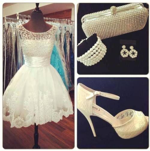 Short Wedding Dress Plus Accessories #ShopSimple...Love the dress ...