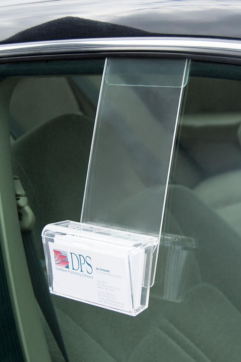 Car Business Card Holder Clips Over Window Tutoring Business