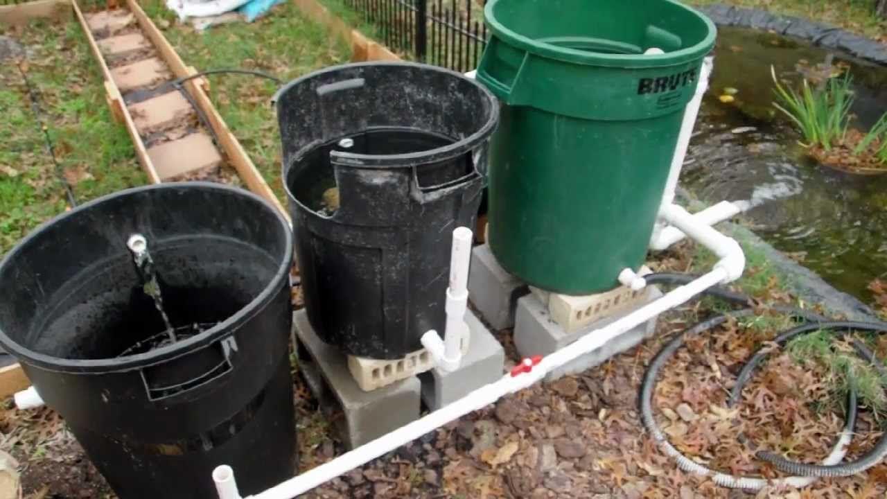 cheap diy bio pond filter that works backyard pinterest
