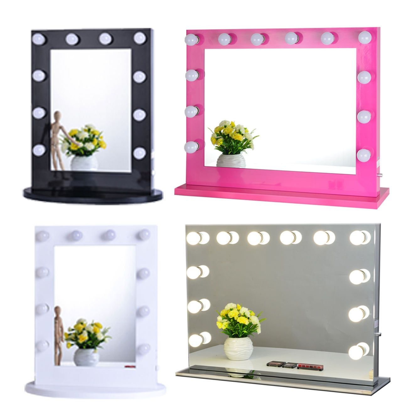 stand up vanity mirror with lights. Hollywood Makeup Vanity Mirror with Light Aluminum Stage Beauty  eBay
