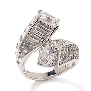 Jean Dousset 6.88ct Absolute™ Round and Square Radiant Bypass Ring at HSN.com.