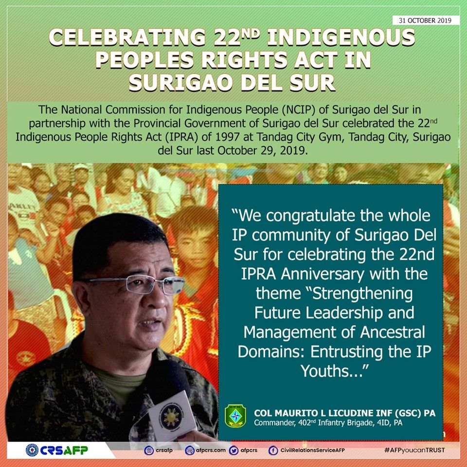 AFPCRS Celebrating 22nd Indigenous Peoples Rights Act in