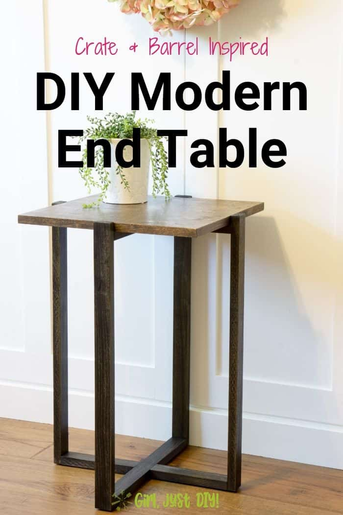 Diy Modern End Table Woodworking Ideas