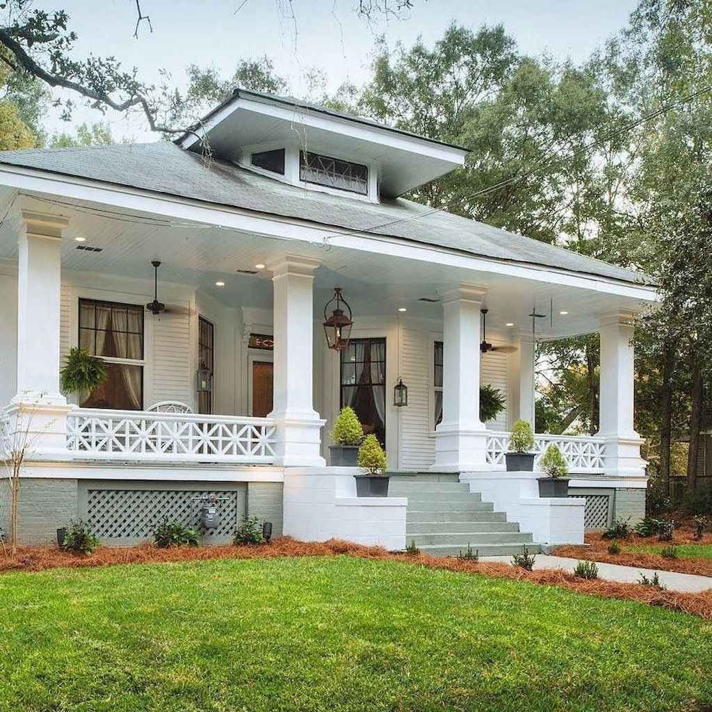 70 Stunning Farmhouse Front Porch Decorating Ideas Page 37 Of 70 Chessy Decor Craftsman Style Homes House Styles House Exterior