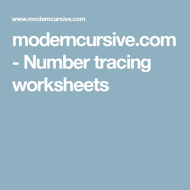 moderncursive.com - Number tracing worksheets | KG Worksheet 2016 ...