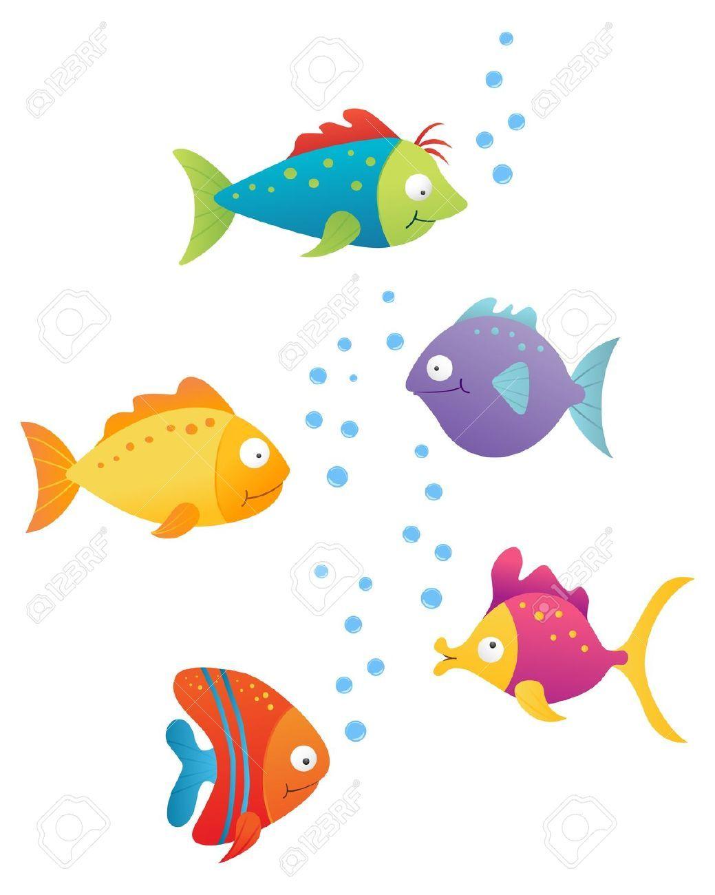 Dessin poisson et aquarium en couleur recherche google - Dessin poisson ...