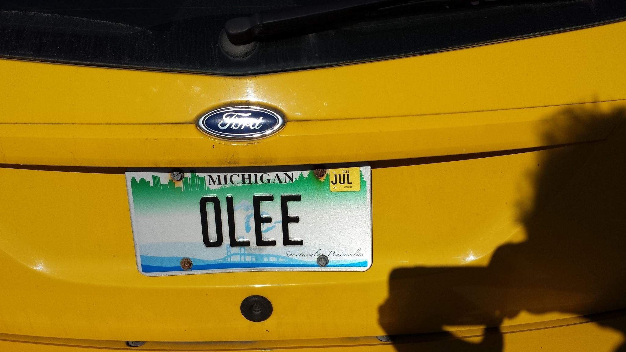 On A Ford Fiesta O Le Vanity Car License Plate Tag Vanity