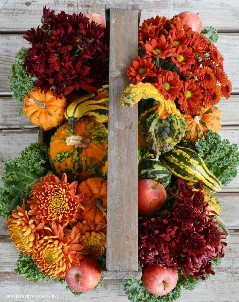Quick And Easy Harvest Centerpiece Fall Thanksgiving Decor Pumpkin Vase Fall Harvest Decorations
