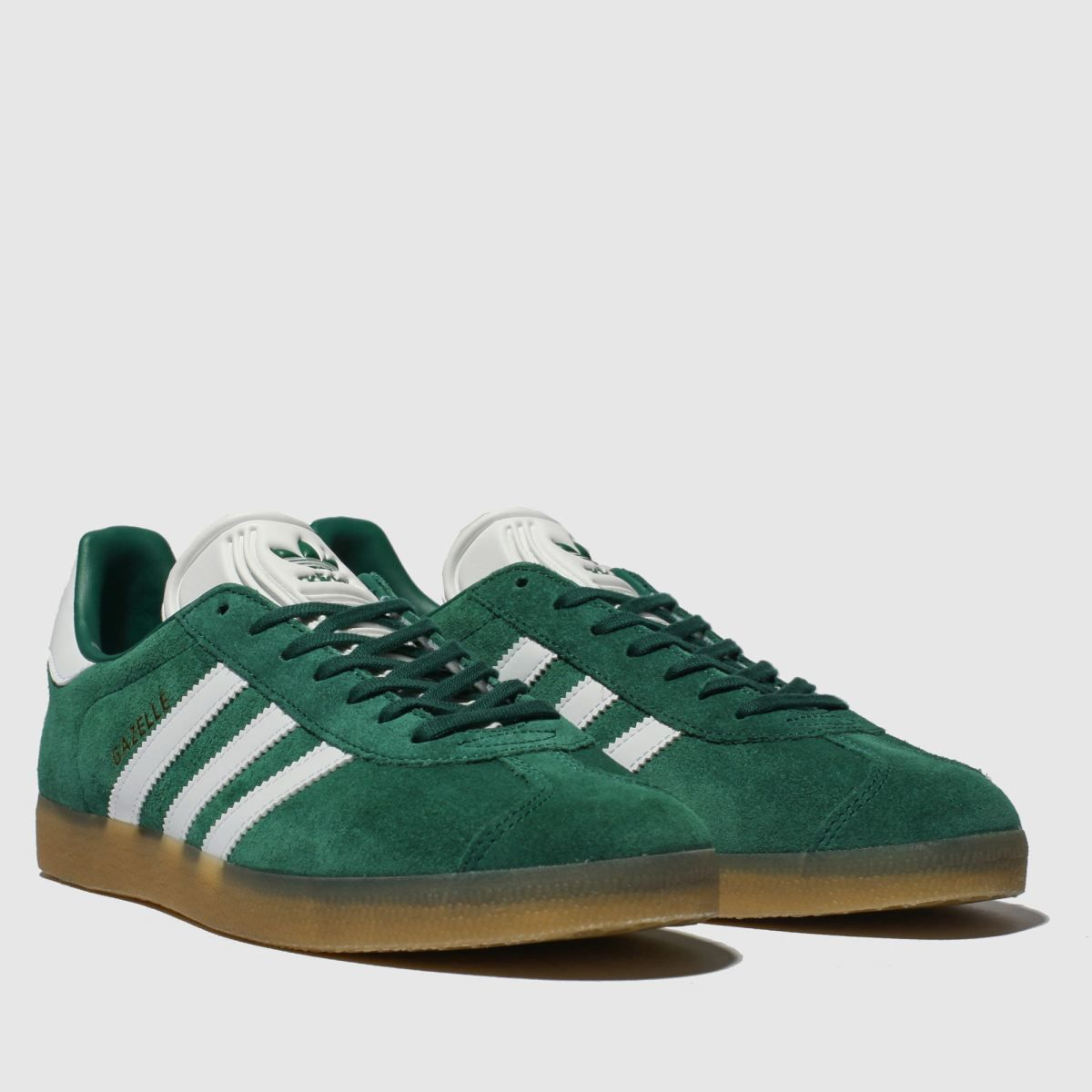 adidas dark green gazelle trainers
